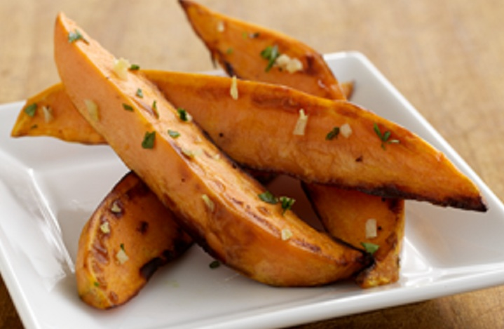 Baked Garlic Sweet Potato Wedges- The GAIA Health Blog