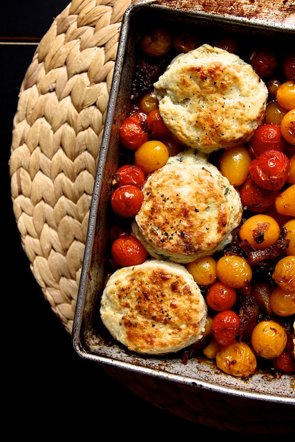 Tomato Cobbler with Blue Cheese Biscuits- The GAIA Health Blog