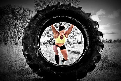 Power Hour Cardio Workout Tire Flips