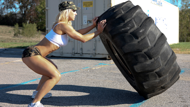 Burn Rubber And Fat Hardcore Tire Flipping